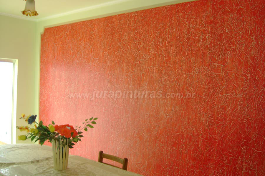 Fotos de pinturas de paredes com textura for Pintura para pared interior