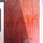 Foto imitação de madeira