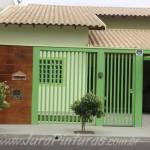 Pintura decorativa na frente de casa